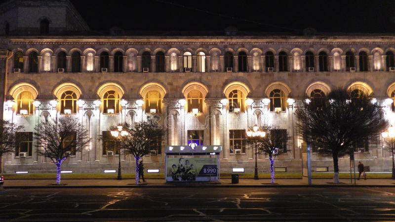 Άποψη νύχτας Jerevan _ Τετράγωνο Δημοκρατίας στοκ φωτογραφία