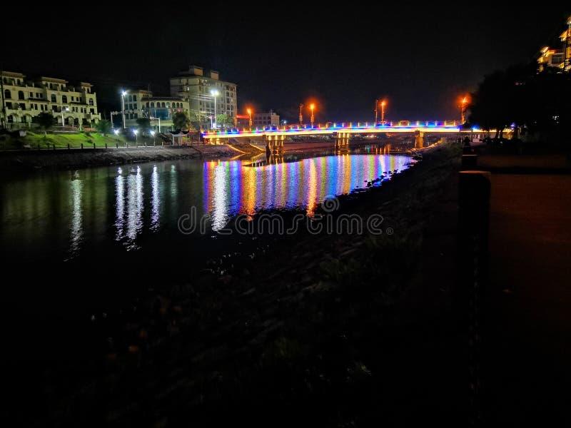 Άποψη νύχτας Qiao dun στοκ εικόνες