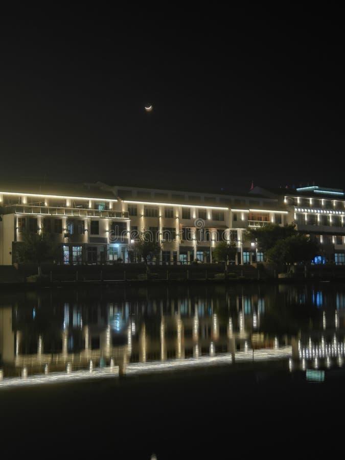 Άποψη 4 νύχτας Qiao dun στοκ εικόνα