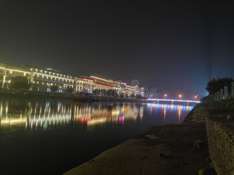 Άποψη 7 νύχτας Qiao dun στοκ φωτογραφία
