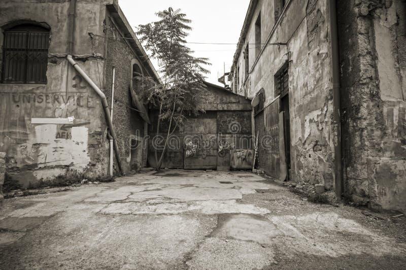 Άποψη οδών γκέτο καρδιών της πόλης στοκ φωτογραφίες με δικαίωμα ελεύθερης χρήσης