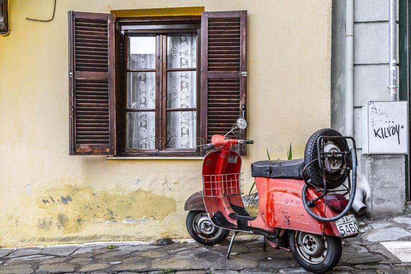 Άποψη οδών στην παλαιά πόλη Θεσσαλονίκης στοκ εικόνες