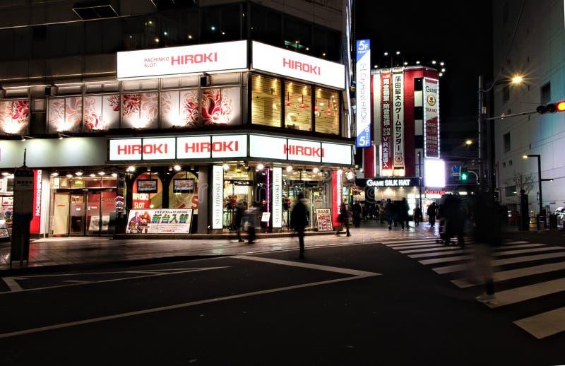 Άποψη οδών στη διατομή σε Ota, Kamata, Ιαπωνία στοκ φωτογραφίες