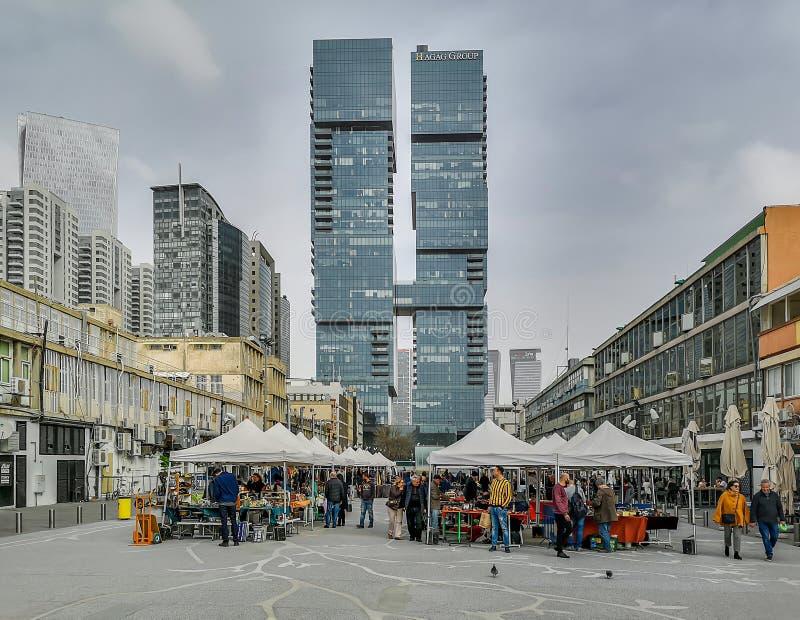 Άποψη οδών του Τελ Αβίβ στοκ φωτογραφίες με δικαίωμα ελεύθερης χρήσης