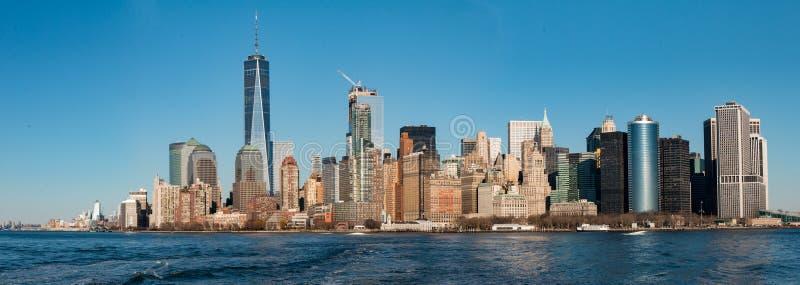 Άποψη οριζόντων του Λόουερ Μανχάταν, Νέα Υόρκη στοκ εικόνες
