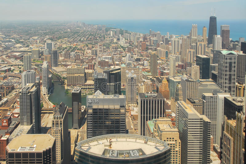 Download Άποψη οριζόντων του Σικάγου Εκδοτική Στοκ Εικόνες - εικόνα από κτήμα, ουρανοξύστης: 62715058