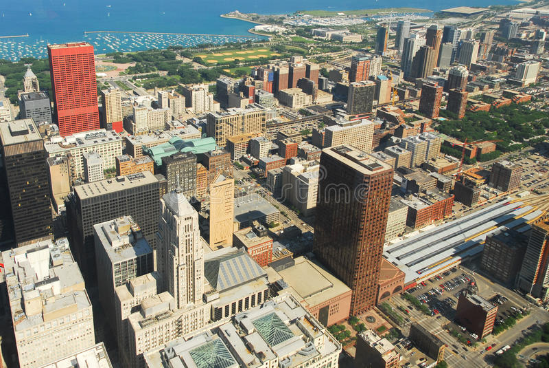 Download Άποψη οριζόντων του Σικάγου Στοκ Εικόνα - εικόνα από ιλλινόις, σικάγο: 62715113