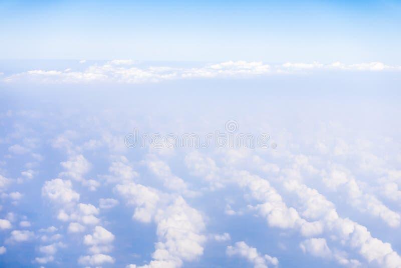 Άποψη ουρανού από το αεροπλάνο στοκ εικόνες