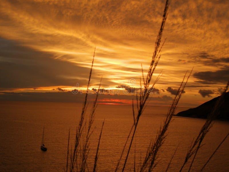Άποψη ουρανού και θάλασσας σε Phuket στοκ εικόνες με δικαίωμα ελεύθερης χρήσης