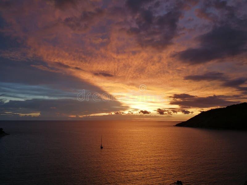 Άποψη ουρανού και θάλασσας σε Phuket στοκ εικόνα με δικαίωμα ελεύθερης χρήσης