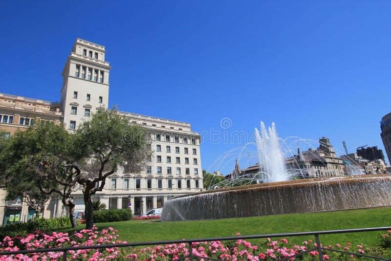 Άποψη οδών πόλεων της Βαρκελώνης στοκ φωτογραφίες με δικαίωμα ελεύθερης χρήσης