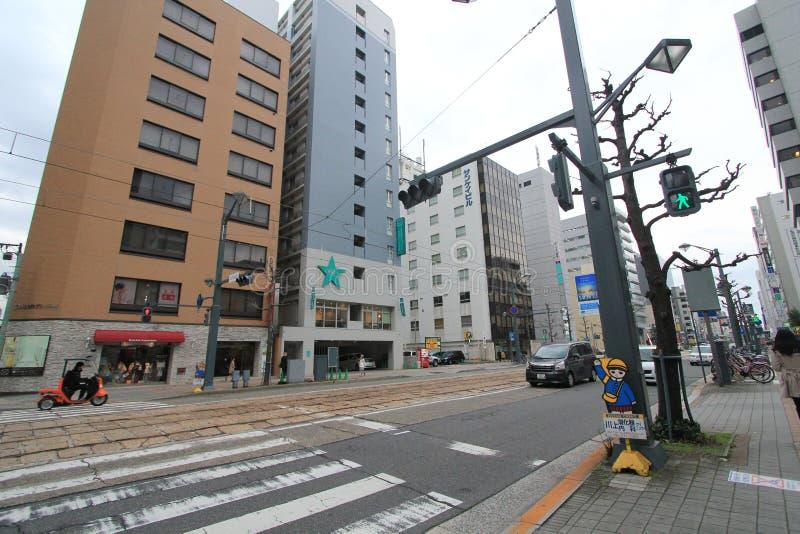 Άποψη οδών της Ιαπωνίας Χιροσίμα στοκ φωτογραφία με δικαίωμα ελεύθερης χρήσης