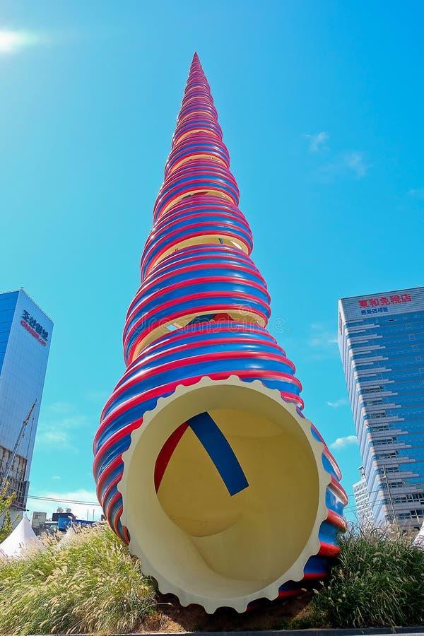 Άποψη οδών Myeongdong στοκ εικόνες