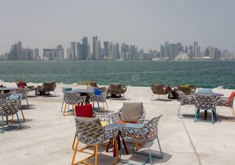 Άποψη πάρκων Doha στοκ φωτογραφία