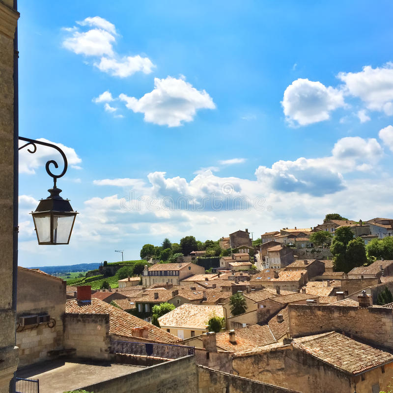Άποψη πέρα από Άγιος-Emilion, Γαλλία στοκ εικόνα με δικαίωμα ελεύθερης χρήσης