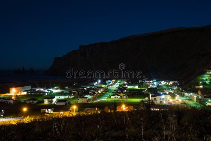 Άποψη πέρα από την πόλη Vik στην Ισλανδία στοκ φωτογραφίες με δικαίωμα ελεύθερης χρήσης