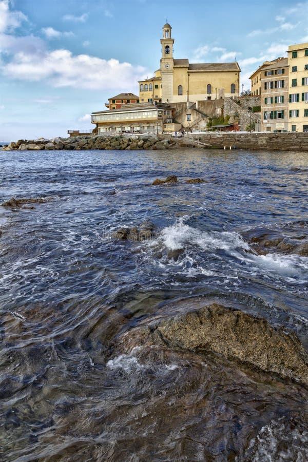 Download Άποψη πέρα από τη θάλασσα Boccadasse Στοκ Εικόνες - εικόνα από anglia, γένοβα: 62702194
