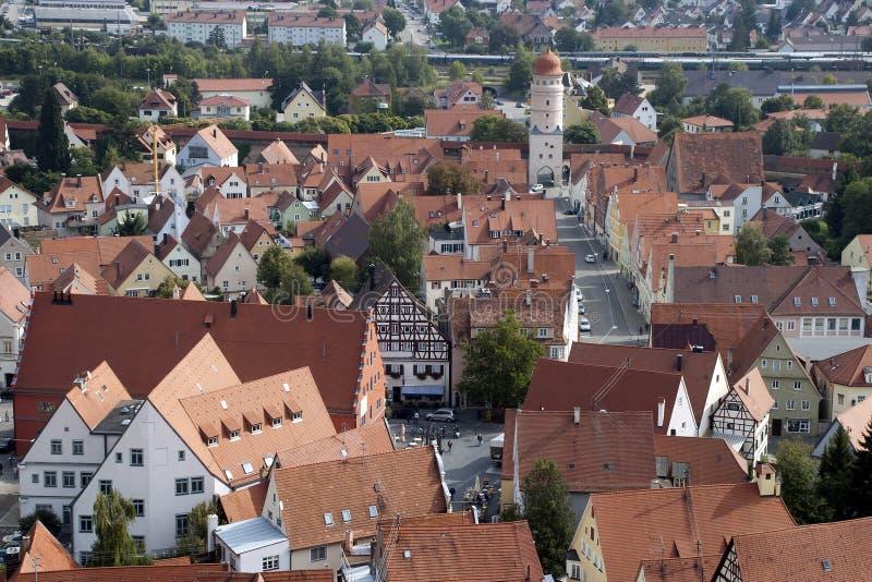 Άποψη πέρα από τις στέγες της παλαιάς πόλης στοκ εικόνες με δικαίωμα ελεύθερης χρήσης