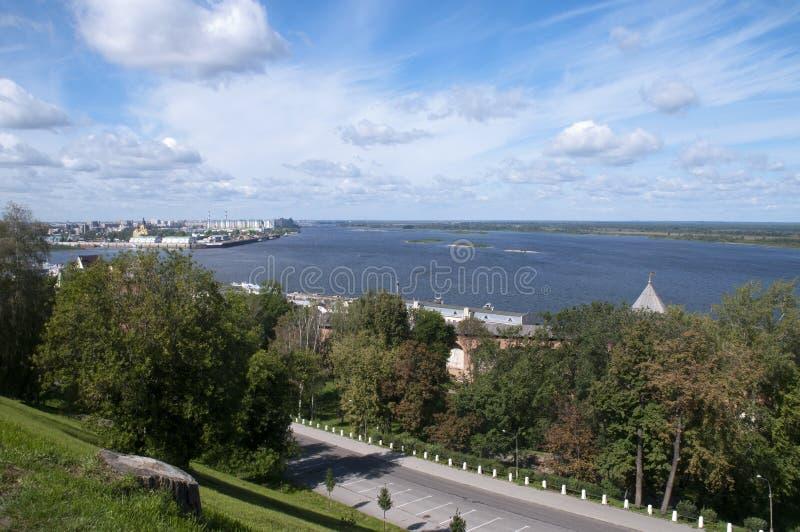 Άποψη πέρα από τον ποταμό του Βόλγα στοκ φωτογραφία με δικαίωμα ελεύθερης χρήσης