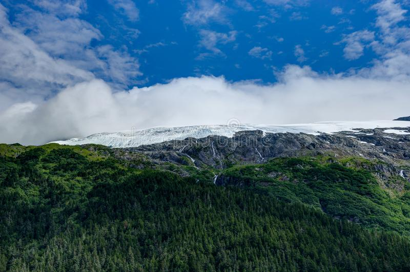 Άποψη παγετώνων Whittier στην Αλάσκα Ηνωμένες Πολιτείες της Αμερικής στοκ εικόνα