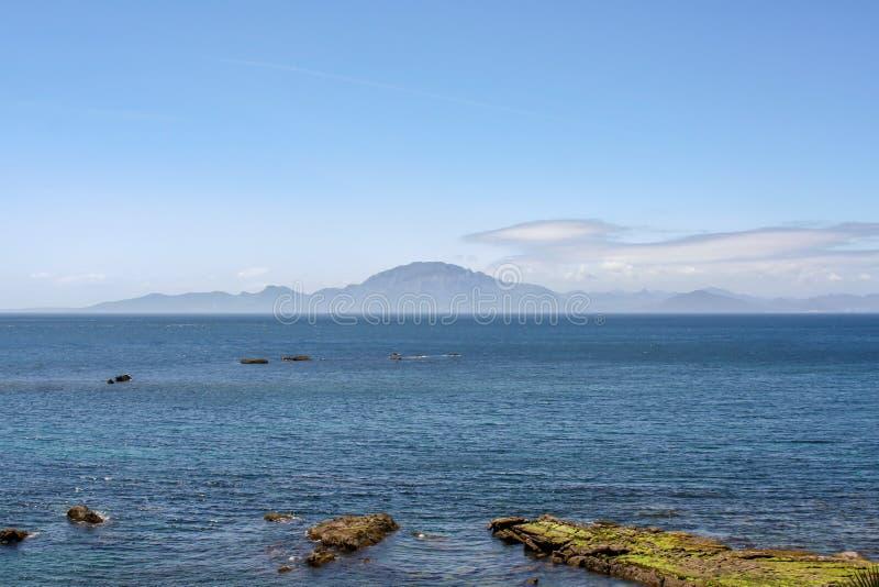 Άποψη πανοράματος πέρα από τη θάλασσα του Γιβραλτάρ στοκ φωτογραφία με δικαίωμα ελεύθερης χρήσης