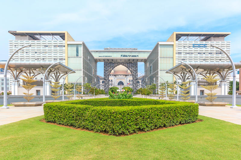 Άποψη πανοράματος του Masjid Tuanku Mizan Zainal Abidin σε Putrajaya, Μαλαισία στοκ φωτογραφία με δικαίωμα ελεύθερης χρήσης