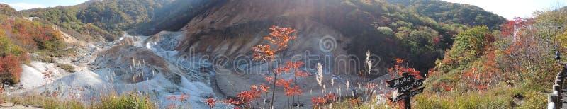 Άποψη πανοράματος το φθινόπωρο στοκ φωτογραφία