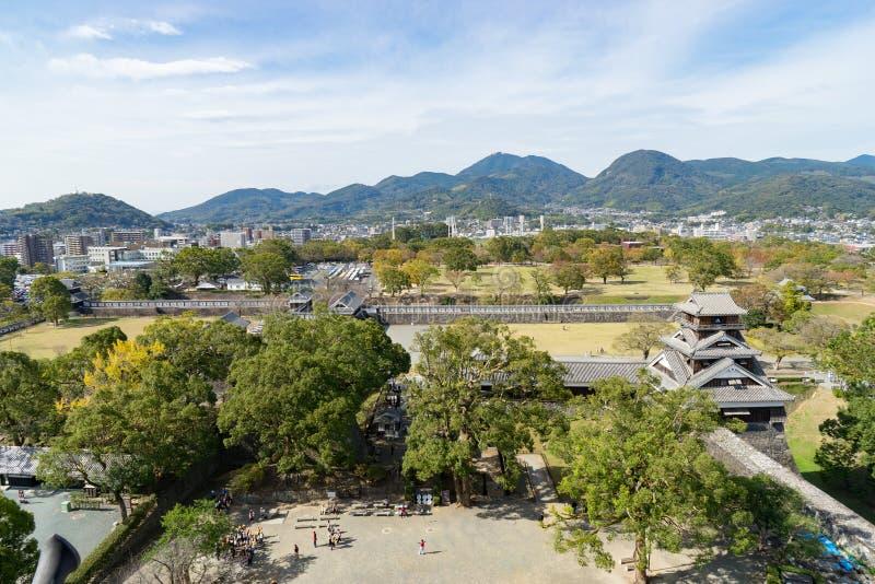 Άποψη πανοράματος Kumamoto στοκ φωτογραφία