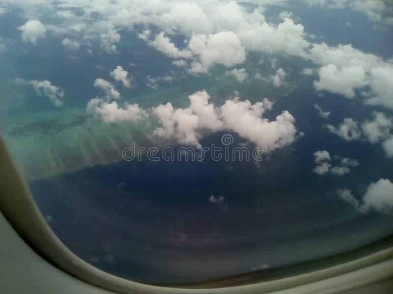 Άποψη παραθύρων αεροσκαφών στοκ εικόνες με δικαίωμα ελεύθερης χρήσης