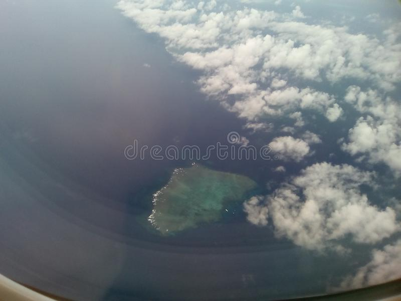 Άποψη παραθύρων αεροσκαφών στοκ εικόνα