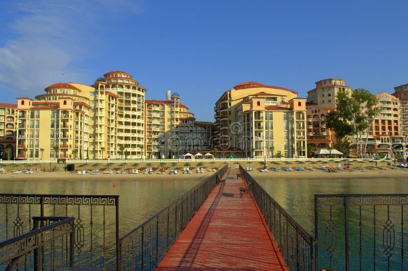 Άποψη παραλιών θερέτρου Elenite, Βουλγαρία στοκ φωτογραφίες με δικαίωμα ελεύθερης χρήσης