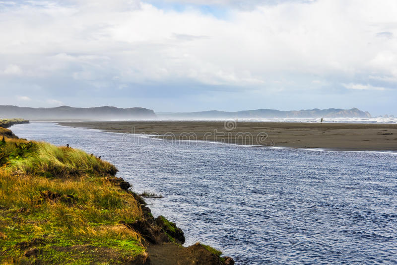 Άποψη παραλιών, νησί Chiloe, Χιλή στοκ εικόνα