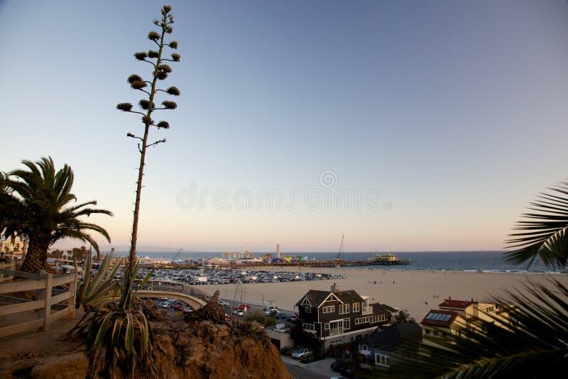 Άποψη παραλιών της Σάντα Μόνικα στοκ φωτογραφία