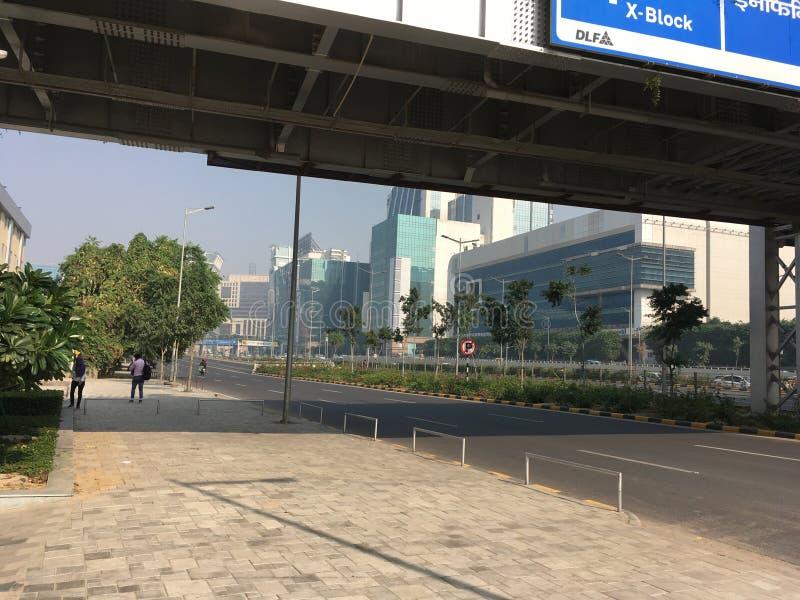Άποψη περιπάτων ουρανού πόλεων Cyber Gurgaon - 21 Νοεμβρίου 2018 στοκ εικόνα με δικαίωμα ελεύθερης χρήσης