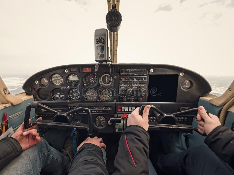 Άποψη πινάκων ελέγχου αεροπλάνων στοκ εικόνες με δικαίωμα ελεύθερης χρήσης