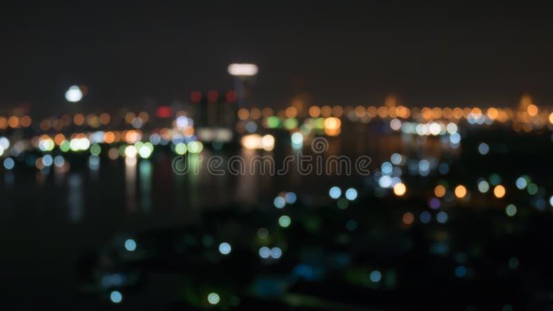 Άποψη ποταμών στο ύφος bokeh στοκ εικόνες