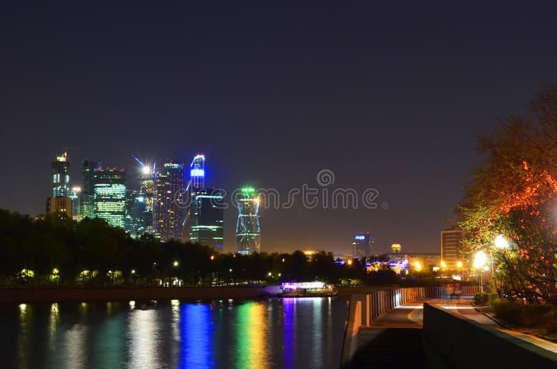 Άποψη ποταμών της Μόσχας στοκ εικόνες με δικαίωμα ελεύθερης χρήσης