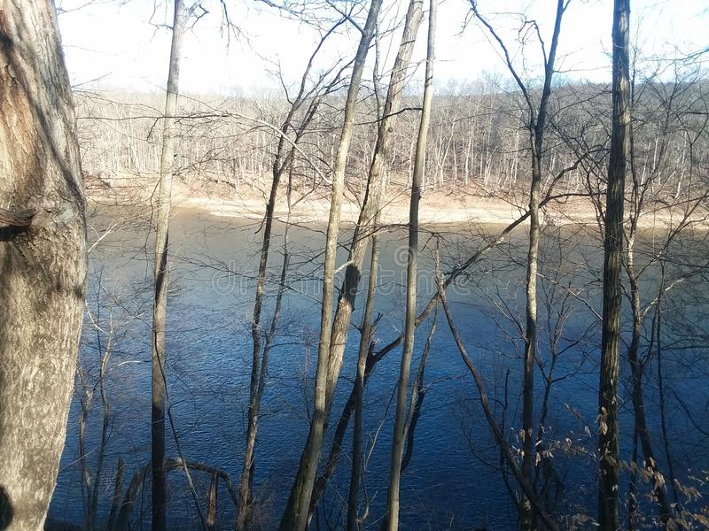Άποψη ποταμών στοκ φωτογραφίες