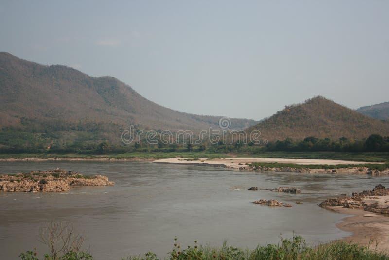 Άποψη ποταμών Khong στοκ εικόνες