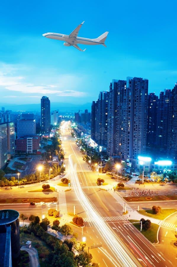 Άποψη πουλιών σε Wuhan Κίνα στοκ εικόνες