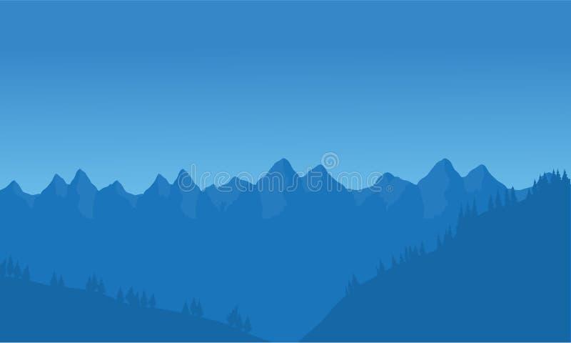 Άποψη πολύ βουνού ελεύθερη απεικόνιση δικαιώματος