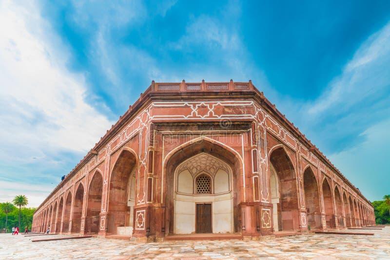 Άποψη προοπτικής του τάφου Humayun ` s στοκ εικόνες