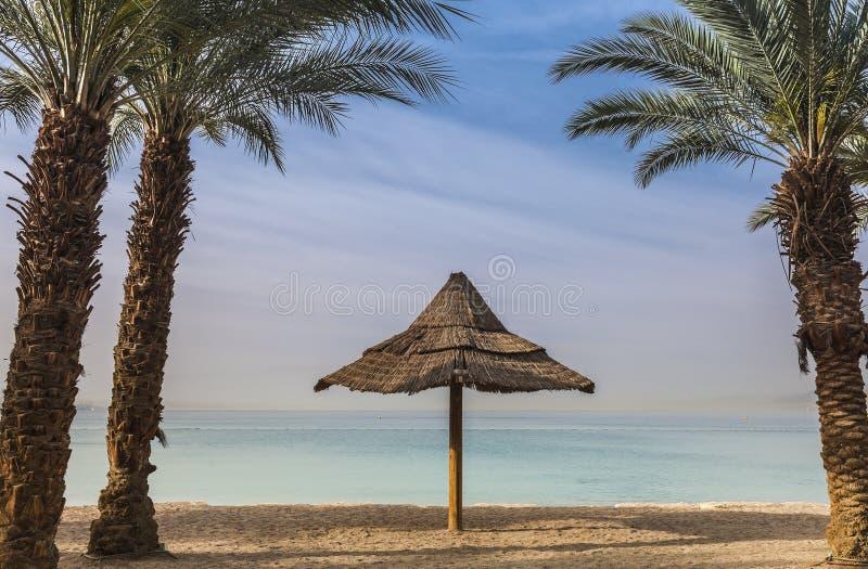Άποψη πρωινού σχετικά με τον κόλπο του Άκαμπα κοντά σε Eilat στοκ φωτογραφία