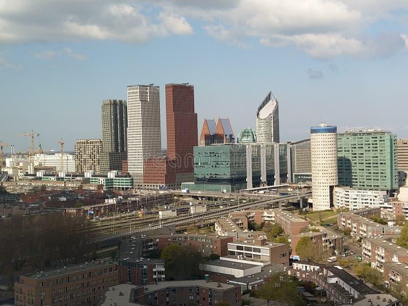 Άποψη πρωινού της Χάγης οριζόντων στοκ φωτογραφία