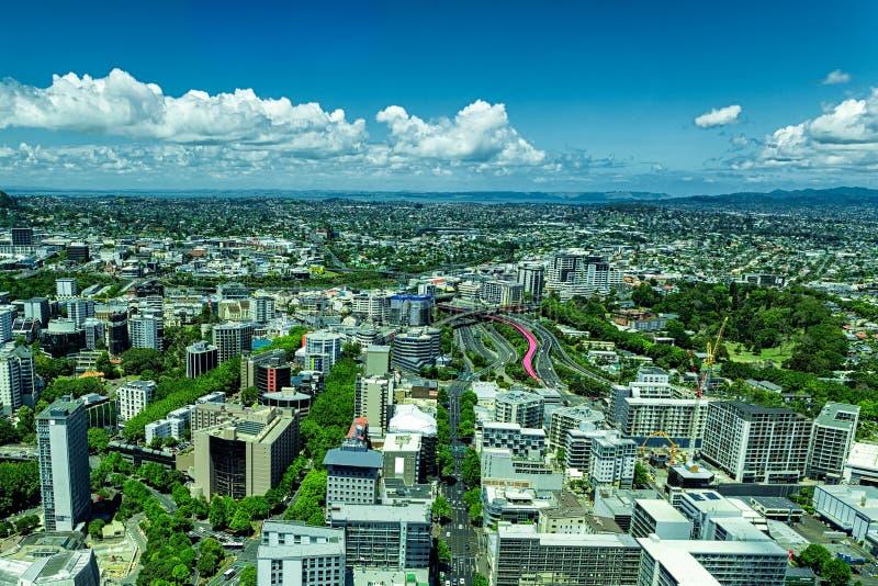 Άποψη πόλεων του Ώκλαντ από τον πύργο ουρανού στοκ εικόνες με δικαίωμα ελεύθερης χρήσης