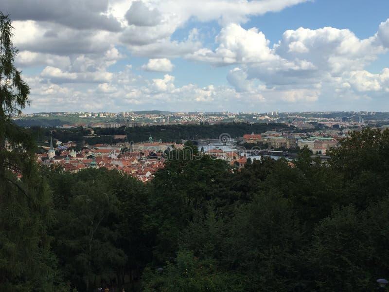 Άποψη πόλεων της Πράγας στοκ φωτογραφία