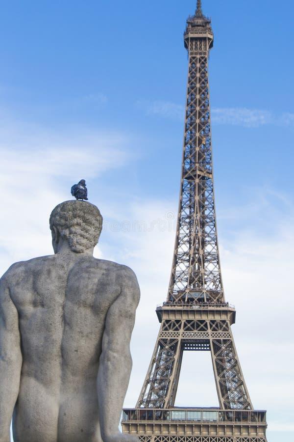 Άποψη πύργων του Άιφελ από Trocadero, ParÃs στοκ εικόνες με δικαίωμα ελεύθερης χρήσης