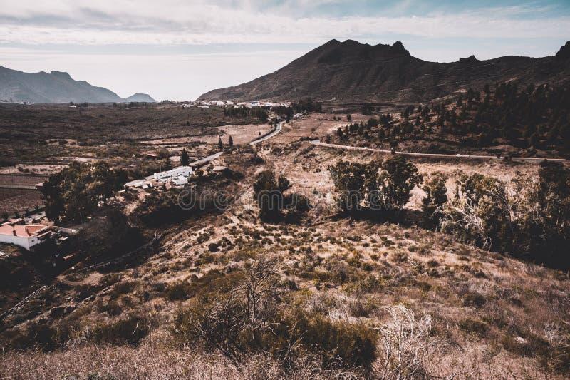 Άποψη σε έναν δρόμο στον ωκεανό Tenerife, Κανάρια νησιά, Ισπανία στοκ φωτογραφίες με δικαίωμα ελεύθερης χρήσης