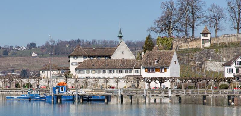 Άποψη σε Rapperswil την πρώιμη άνοιξη στοκ φωτογραφία με δικαίωμα ελεύθερης χρήσης