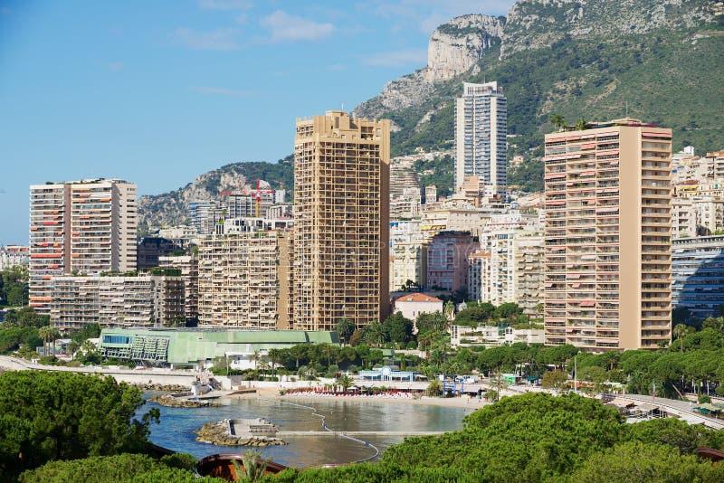 Άποψη στα κτήρια κατοικήσιμης περιοχής στο Μονακό, Μονακό στοκ φωτογραφία με δικαίωμα ελεύθερης χρήσης